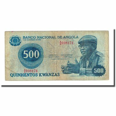 Preventing Hairs From Graying And Helpful To Retain Complexion 1979-08-14 Vf 500 Kwanzas Banknote Angola Km:116 #168054 20-25