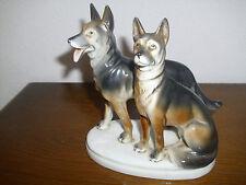 Figur Schäferhunde Hund-Porzellanfigur Gräfenthal Carl Scheidig Thüringen