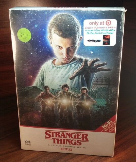 Stranger Things Season 1 Collector Edition VHS Pack(4K Ultra HD/Blu-ray+Poster)