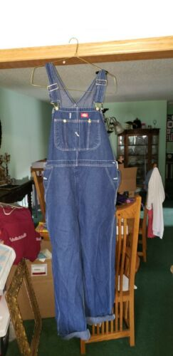 Mens Blue Dickies Overalls Size 44x32
