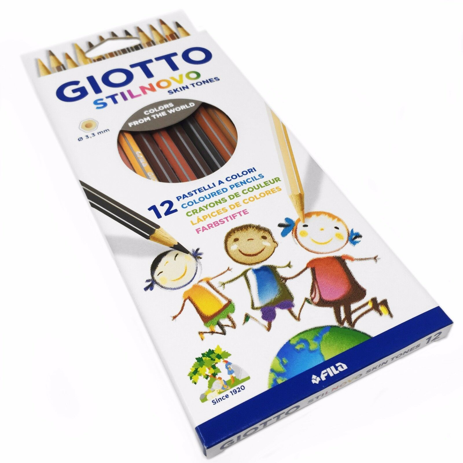 Farbstift Giotto 2574 00 Stilnovo Skin Tones Set mit 12 Stiften