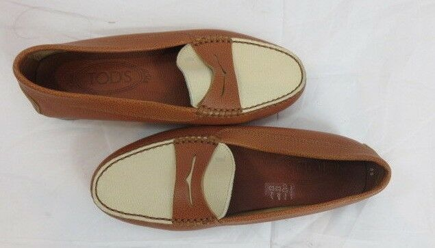 Tod's Two Tone Tone Tone Driving Moccasin Loafer Size 35 f8378b