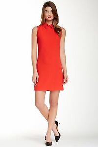 Ted Baker Red Temberl Beaded Bow Tunic 3=US8//10