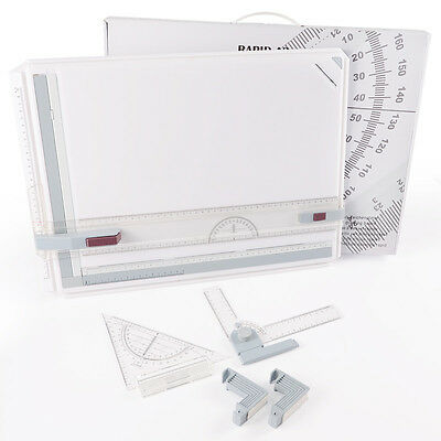 Protable A3 Drawing Board Table Set Multi Function Magnetic Clamping Bar