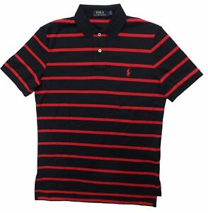 Image is loading 3289-3-Polo-Ralph-Lauren-Mens-Black-Red-