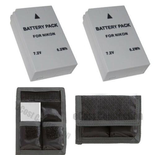 2 EN-EL24 ENEL24 Battery for Nikon 1 J5 Digital Camera + Battery PouchENEL24