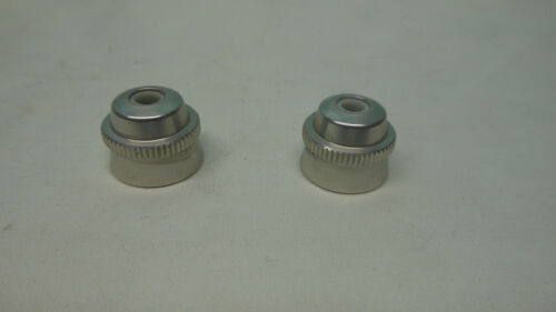 2 NOS Vintage Alloy Campagnolo C Record quick release skewer nuts //ends Light!!!