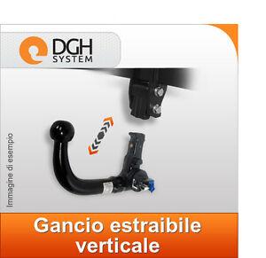 kit el 7 Gancio di traino estraibile verticale Seat Ibiza 3//5 porte dal 2008