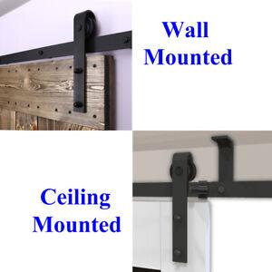 Details About 4ft 20ft Sliding Barn Door Hardware Closet Track Kit Single Double Byp Doors