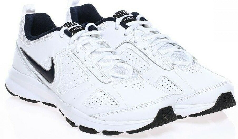 Nike Homme Trainer Lite XI T-Lite Leather Gym Cross Trainer Running Blanc & Navy