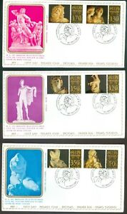 Vatican-City-Sc-617-22-Classical-Sculpture-on-FDC