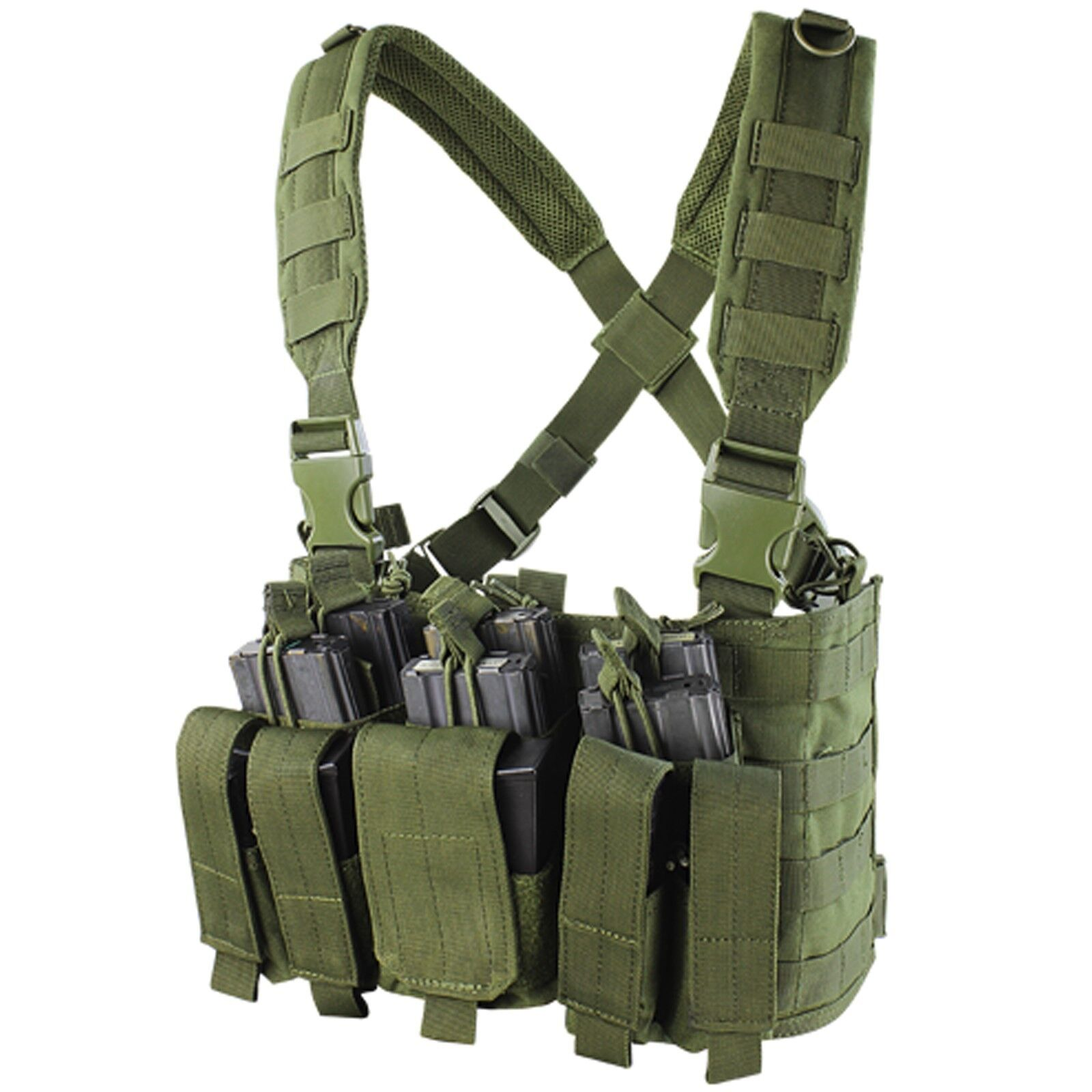Condor MCR5 OD Green MOLLE PALS  Rifle Magazine Pouch Rapid Assault Chest Rig  new listing