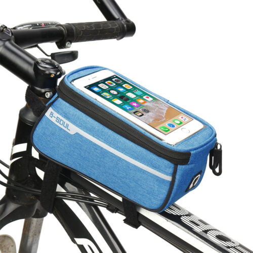Bicycle Cycling Portable Fixed Front Frame Tube Bag for Mobile Phone Under 6ins