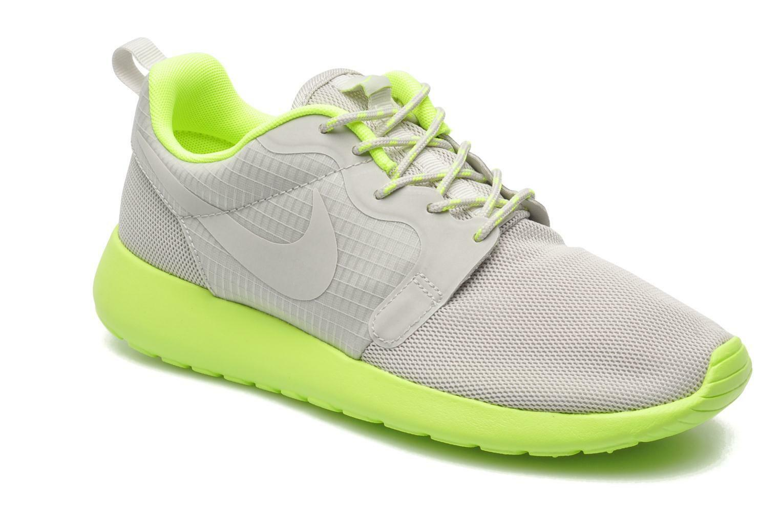⭐  Nike Roshe Run gris Lime Taille 6 Femme One Girls Running Free Gym Trainer