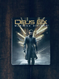 Deus-Ex-Mankind-Divided-Collector-039-s-Edition-Limited-Edition-Steelbook-Case-ONLY