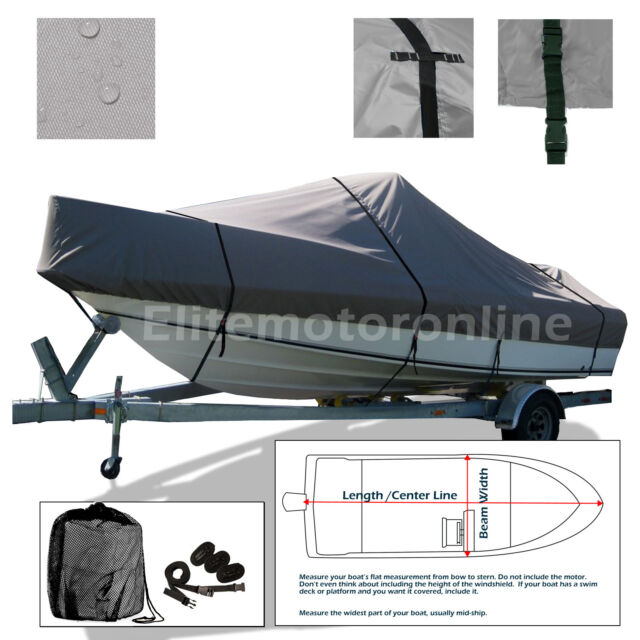 Carolina Skiff J14 SS Trailerable Jon Fishing Boat Storage Cover ...