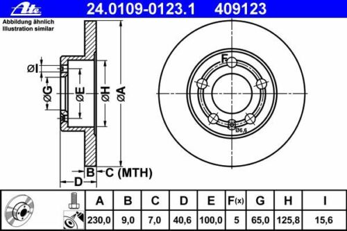 BELÄGE HINTEN AUDI A1 8X A3 8L ATE BREMSSCHEIBEN 230mm TT 8N A2 8Z
