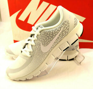 brand new f9944 6fd59 Details about NIB NIKE FREE 5.0 V4 Size 11.5 Gray / White Women's Running  Shoes RETAIL $100