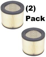 (2) Shop-vac 90398-33 Cartridge Air Filter For Hang Up Pro Wet/dry Vacuums