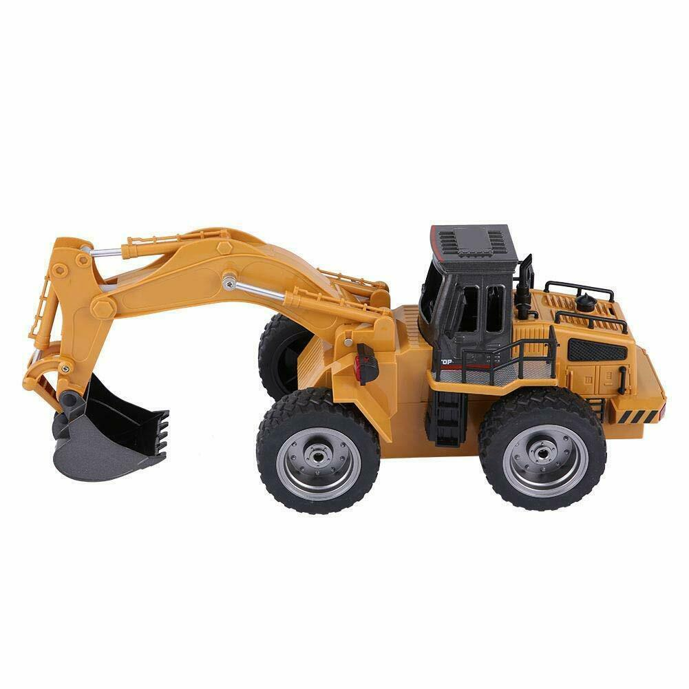 HuiNa Toys 1530 6 CH 1 18RC Metal Excavator Charging Bulldozer RC Front Loader