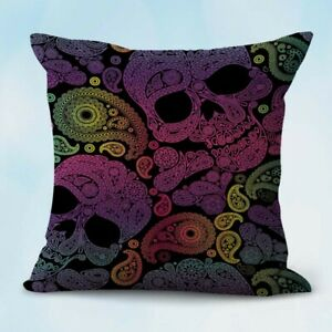 US Seller decorative pillow case sugar skull day of dead Mexcian cushion cover