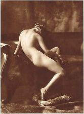 1920's Vintage Female German Nude Model Art Deco Grainer Photo Gravure Print