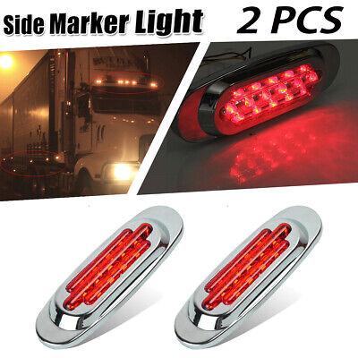 5p Clear//Amber  LED Marker Light Flush Mount 16 Diodes For Freightliner Cascadia