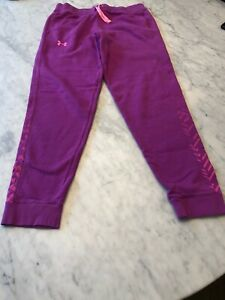 Womens-Under-Armour-HotPink-Purple-Jogger-Athletic-UA-Sportstyle-Gym-Pants-Small