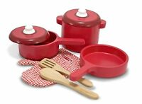 Melissa And Doug Deluxe Wooden Kitchen Accessory Set , New, Free Shipping