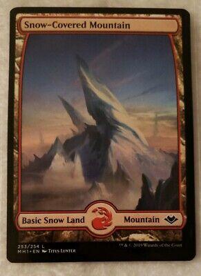 4x Snow-Covered Mountain Modern Horizons MTG Magic the Gathering