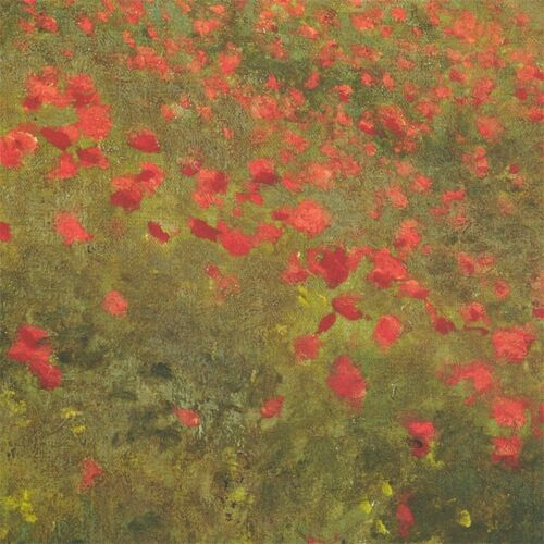 """POPPY FIELDS CANVAS 46/""""x34/"""" COQUELICOTS by CLAUDE MONET"""