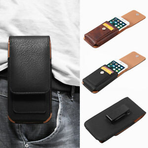 EB-KF-Faux-Leather-Solid-Color-Belt-Clip-Men-Phone-Bag-Holder-for-iPhone-X-8-7