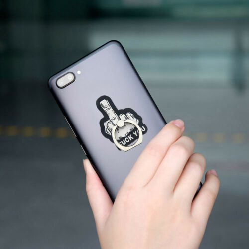 360° Rotating Middle Finger Ring Holder Stand  for Car Mobile Cell Phone 2Type