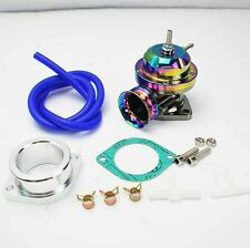 UNIVERSAL TYPE-RS STYLE TURBO CHARGED BLOW OFF VALVE BOV W/ FLANGE NEO CHROME