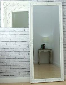 Eton Large White Vintage French Full Length Wall floor Mirror 163cm ...