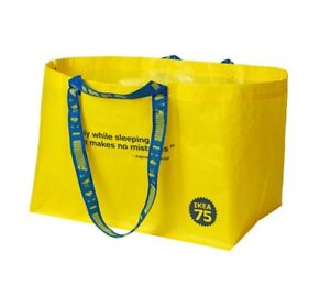 IKEA-Yellow-Bag-75th-Anniversary-VARLDSBRA-Storage-Laundry-Shopping-Collectible