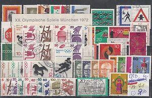 Brd-Jahrgang-1971-gestempelt-mit-Block-6-und-Blockeinzelmarken