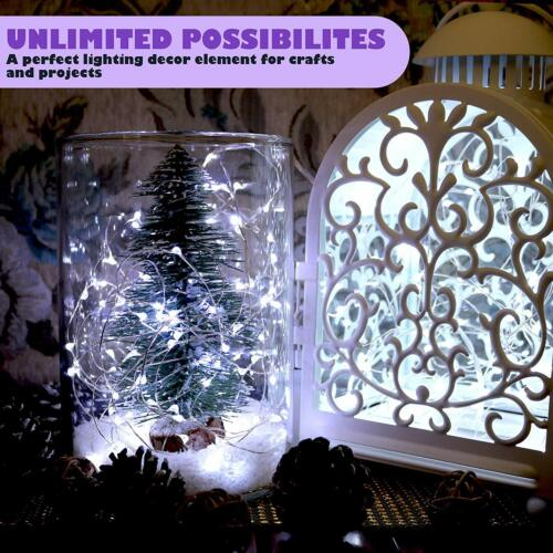 6xCool White Battery Powered 30LED Copper Wire Xmas Christmas String Fairy Light