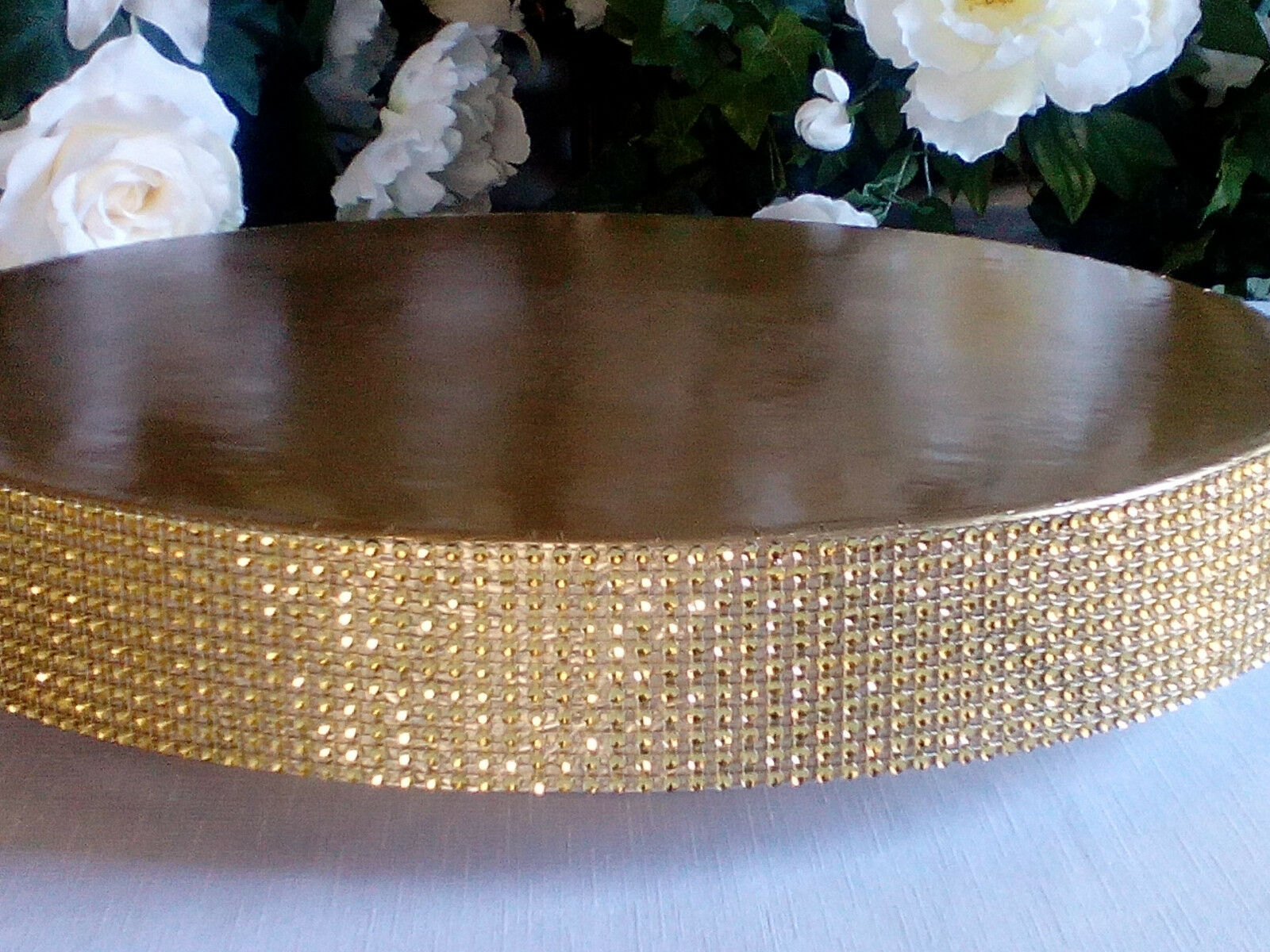 16  or 18  Wedding Cake Stand  Glitzy Gold  cake stand, plateau, riser, plate