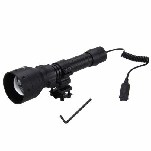 500 Yards 67mm Lens Zoom Focus Red Green Predator Hunting Light Flashlight Hog