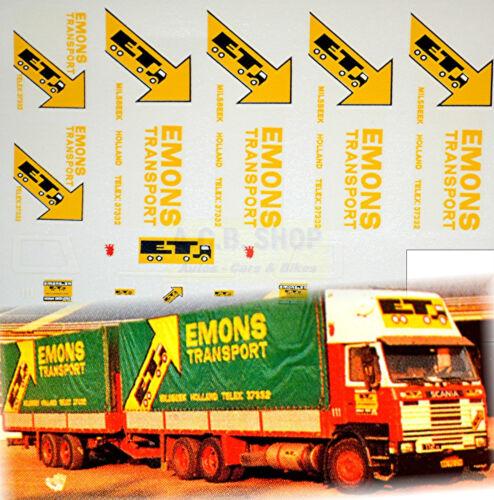 Scania Emons transporte Holland 1:87 Truck decal camiones estampado NL
