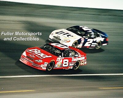 DALE EARNHARDT JR WINS THE WINSTON vs RUSTY WALLACE 2000 8X10 PHOTO NASCAR CUP