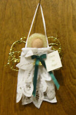 """Lace Doily Ornament #HF0809 YOU'RE AN ANGEL, NEW from our Retail Store 6"""""""