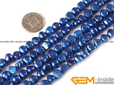 "6-7mm Freeform Freshwater Pearl Jewelry Making loose gemstone beads strand 15"""