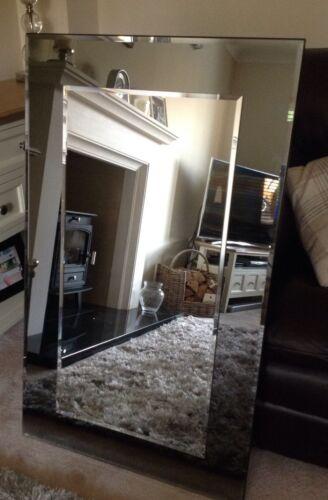 John Lewis Marietta Wall Mirror RRP£195 Grey//Smoked Glass 100x60cm Clearance