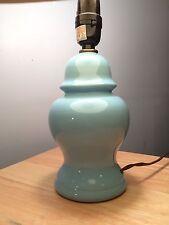 Turquoise Ginger Jar Ceramic Table Lamp Vintage Hollywood Regency Small Blue