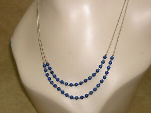BEAUTIFUL-CAROLYN-RELIOS-POLLACK-LIQUID-STERLING-SILVER-LAPIS-BEAD-NECKLACE
