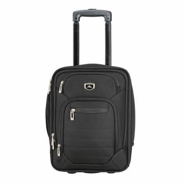 High Sierra Wheeled Under Seat Suitcase Carry On Travel Tote Bag Black