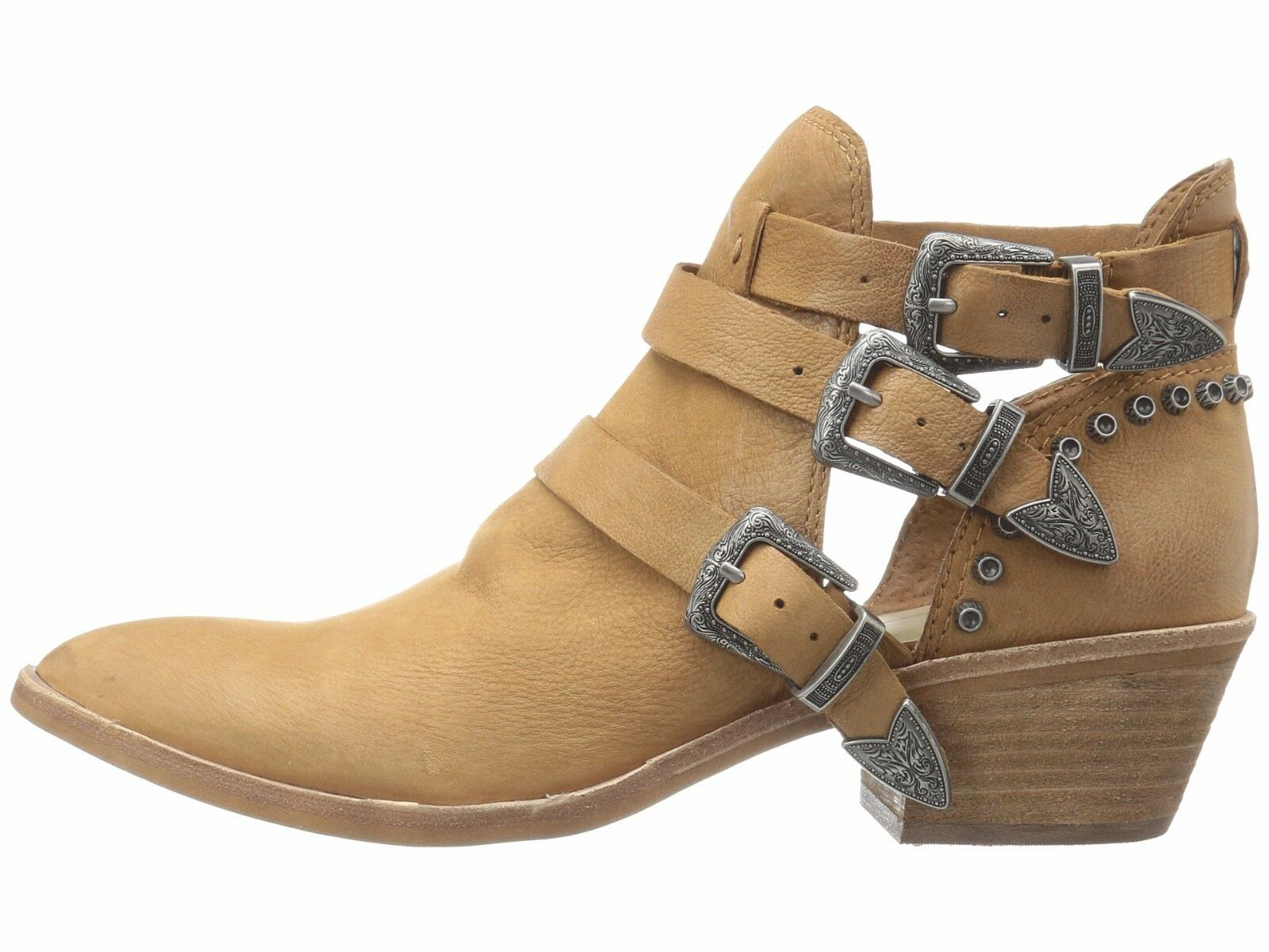 Dolce Vita Spur Saddle Women's Chunky Heel Ankle Nubuck Booties Distressed Nubuck Ankle 2684a7