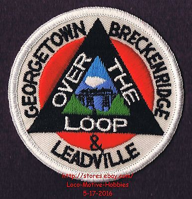 Lmh Patch Badge Georgetown Breckenridge Leadville Railroad Over The Loop Ry 3 Patches Pins Buttons